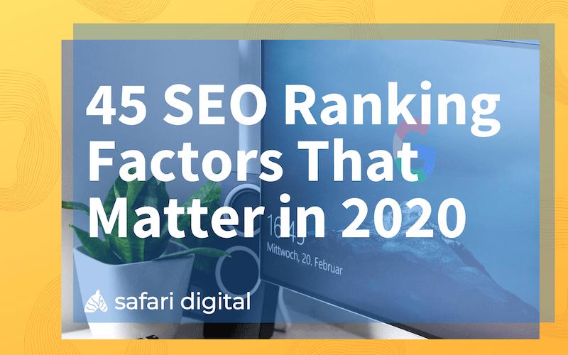 45 SEO ranking factors - small cover image