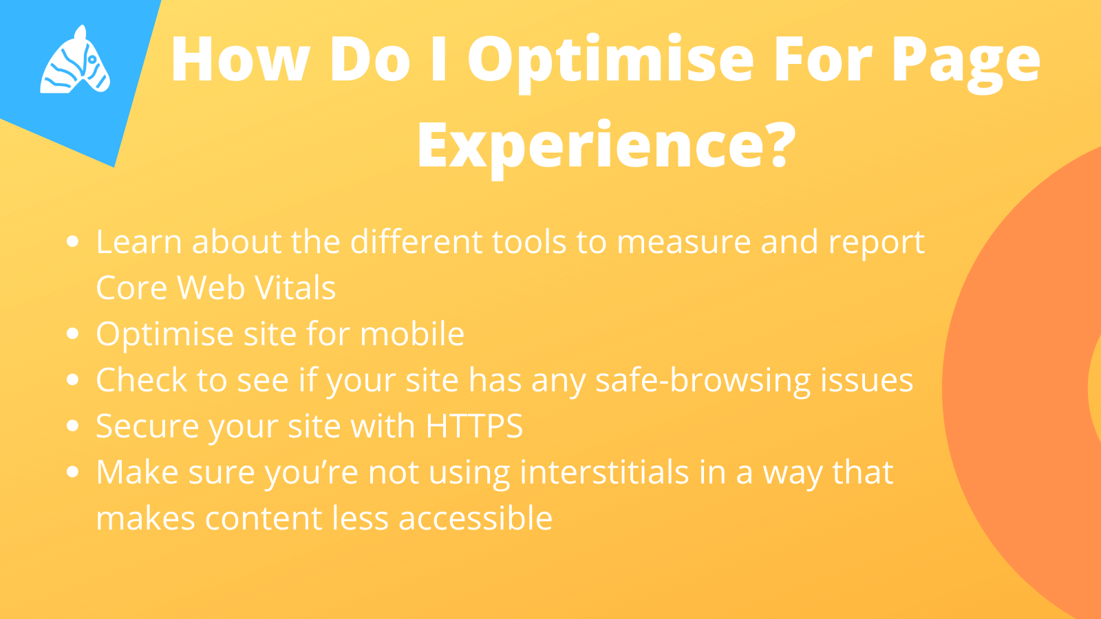 How to optimise for page experience