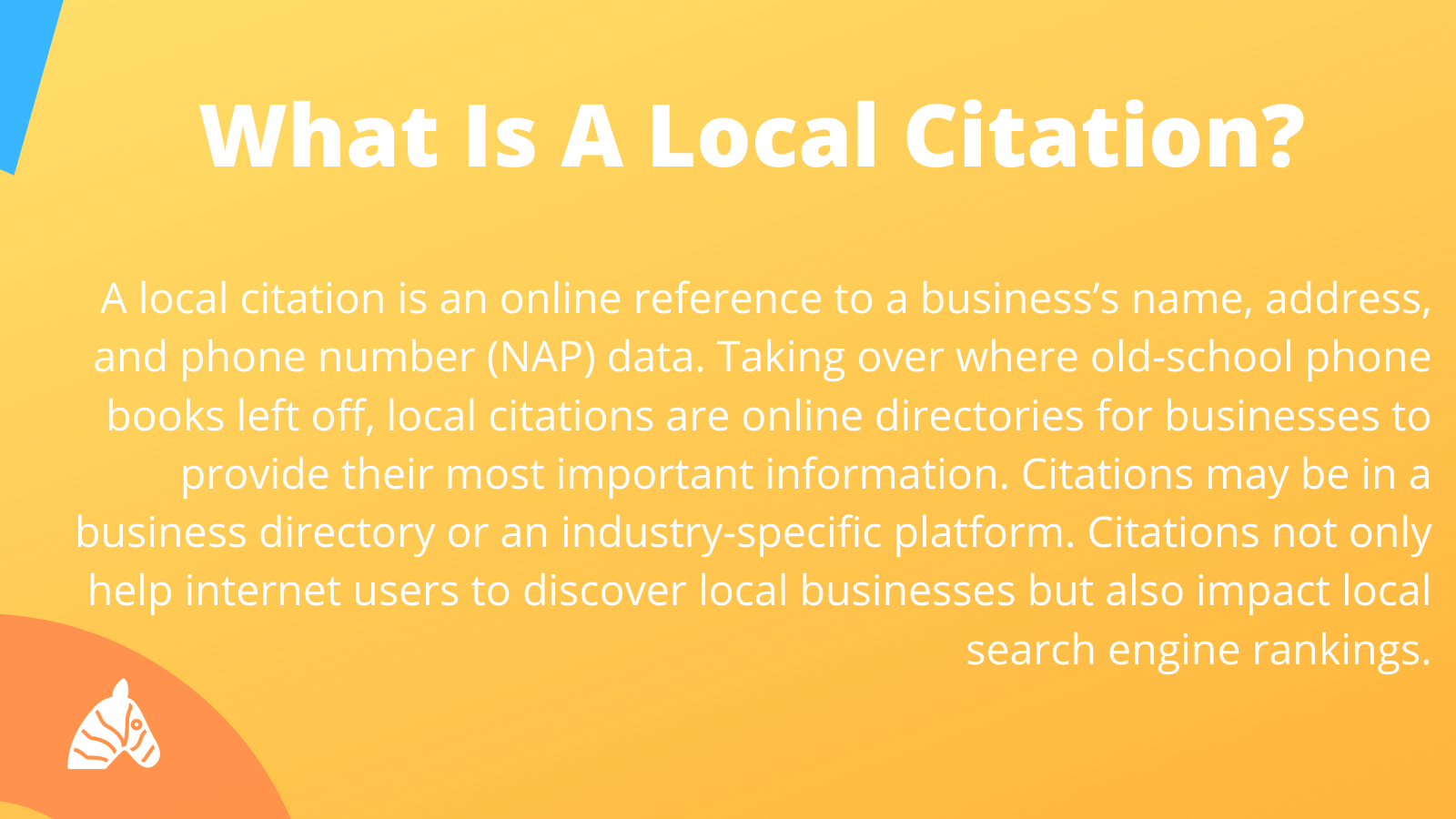 explanation of a local citation or NAP listing