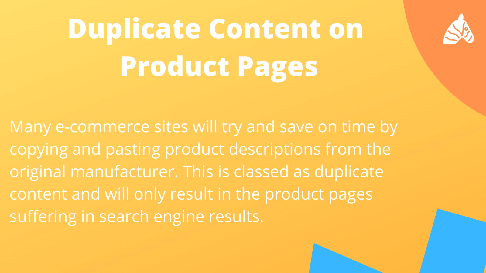 Handling duplicate content on product pages