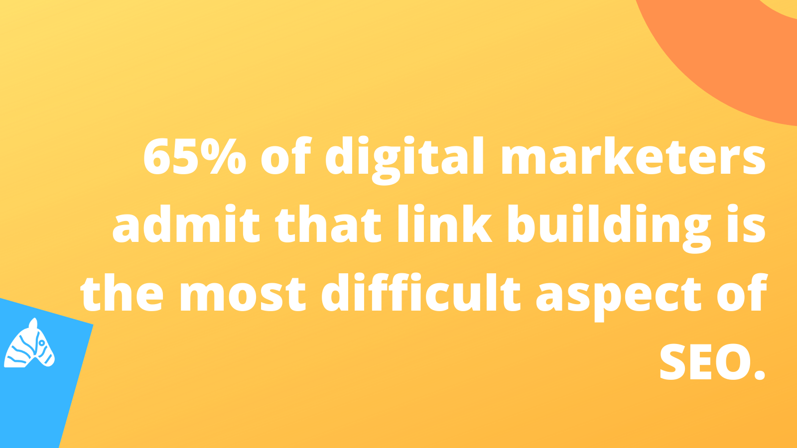 63% of marketeers admit that link building is the most difficult aspect of SEO