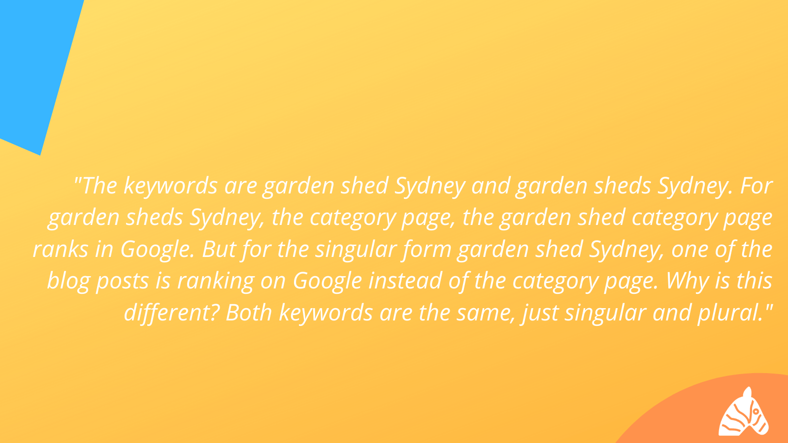 example of seo plural or singular keywords ranking differently
