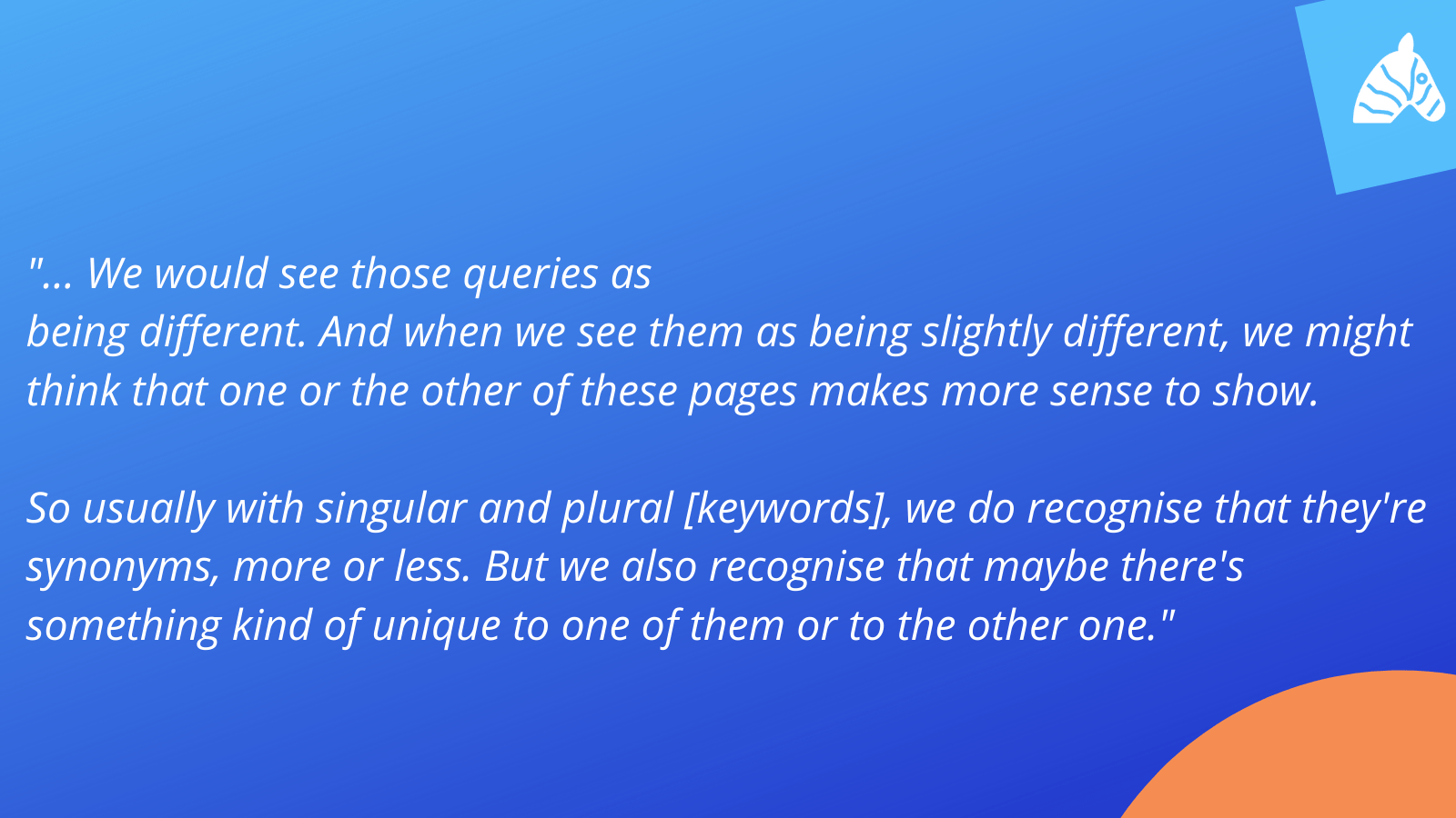 how google ranks plural and singular keywords differently