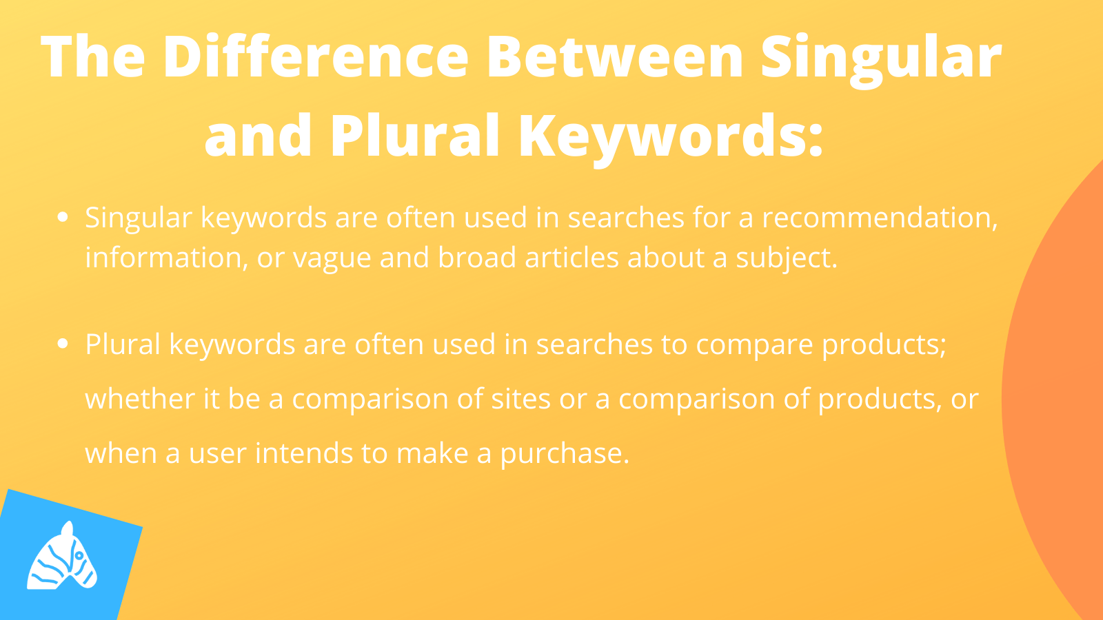 the difference between singular and plural keywords explained