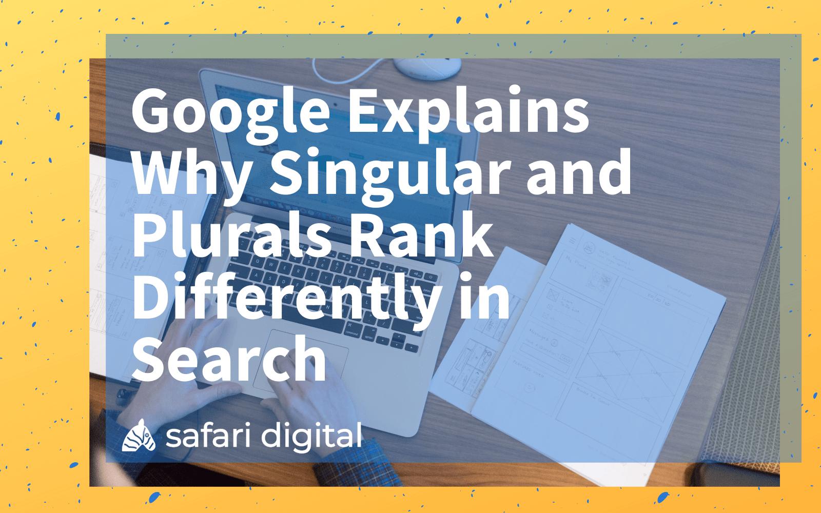 seo plural or singular keywords cover image