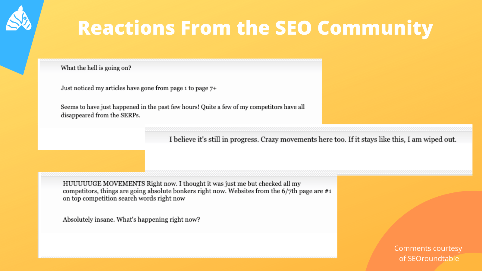 August 10th Google Update - reactions from the SEO community
