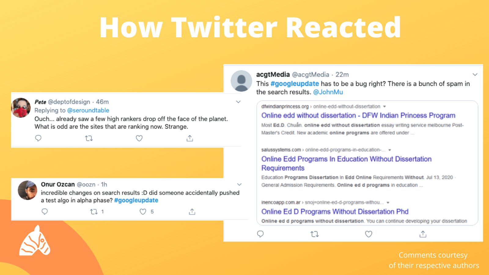 August 10th google update reactions from the seo community on twitter
