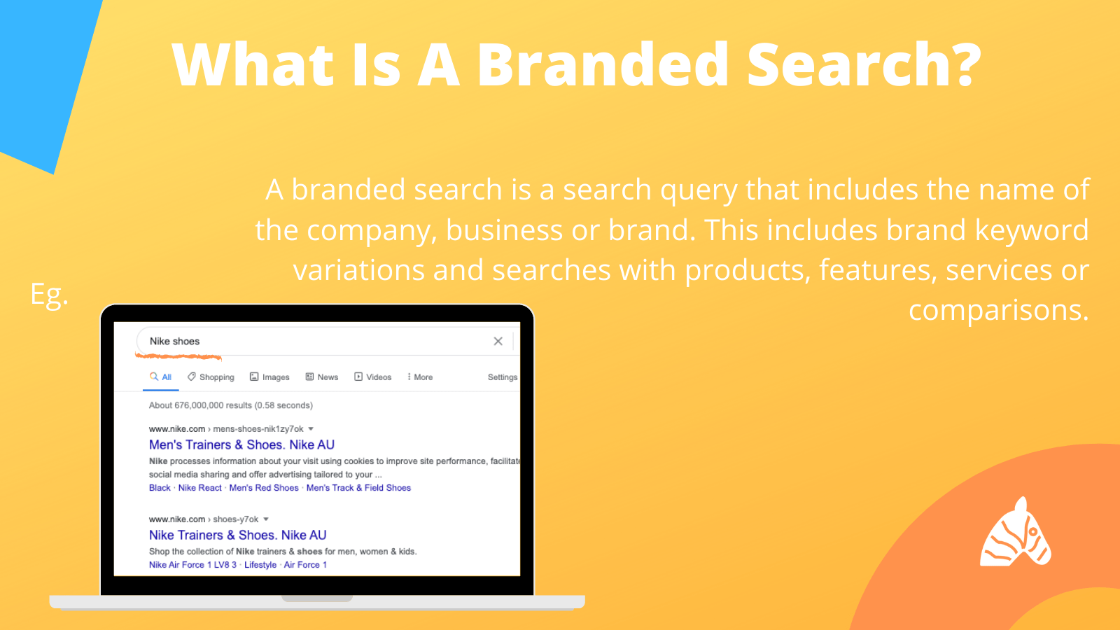 what is a branded search - nike example
