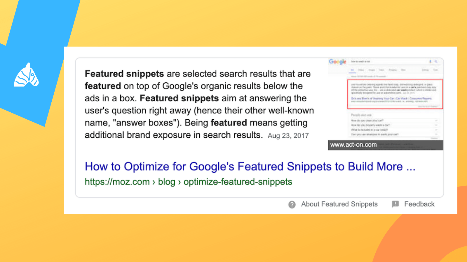 Example of the featured snippet in Google