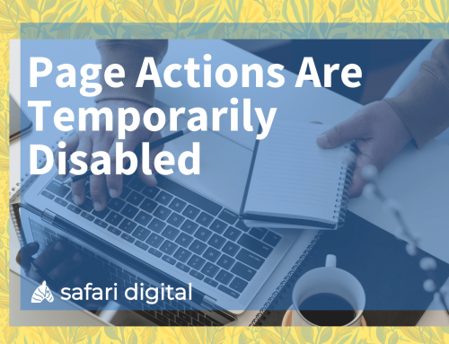Page Actions Are Temporarily Disabled