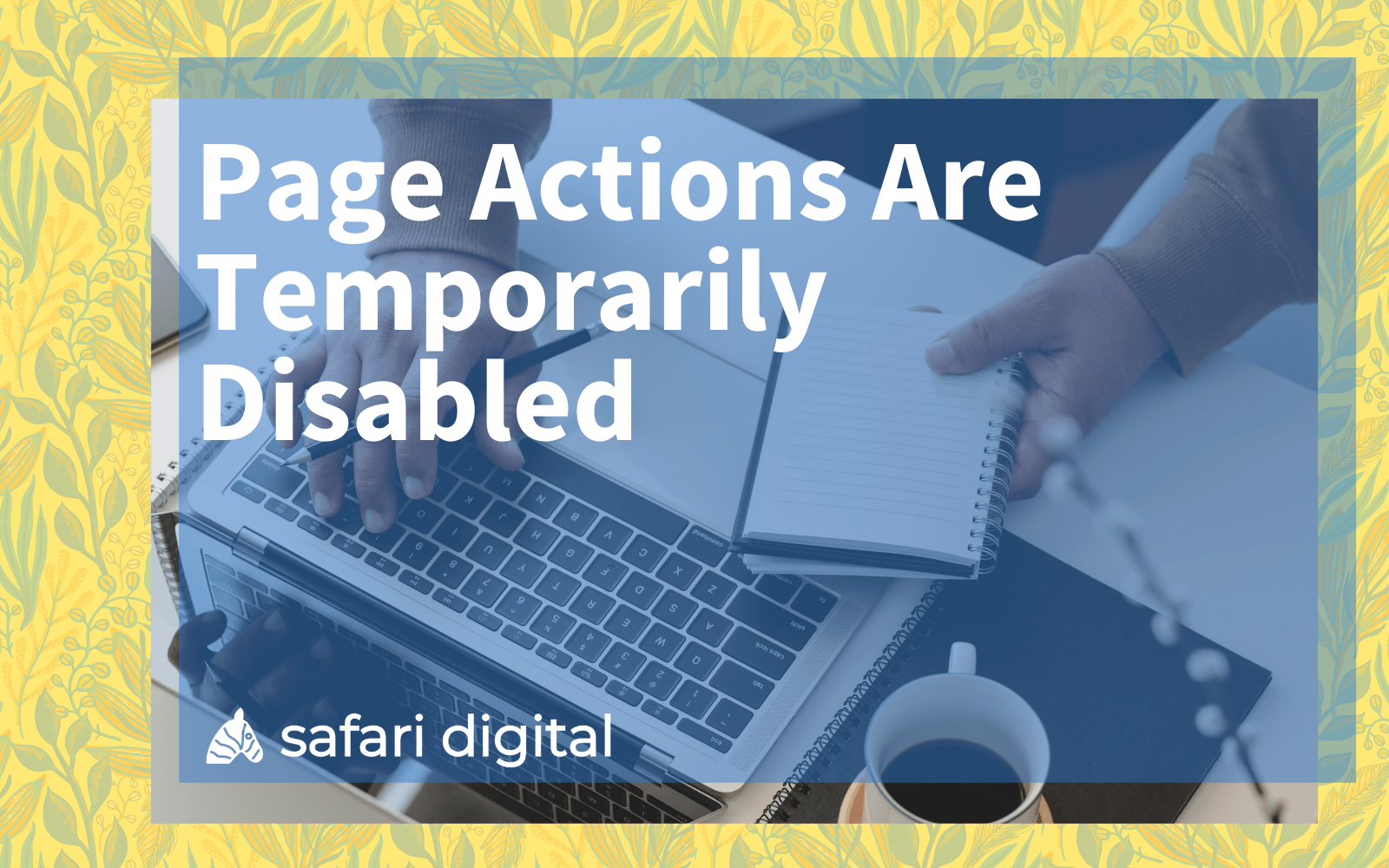 Page Actions Are Temporarily Disabled cover image
