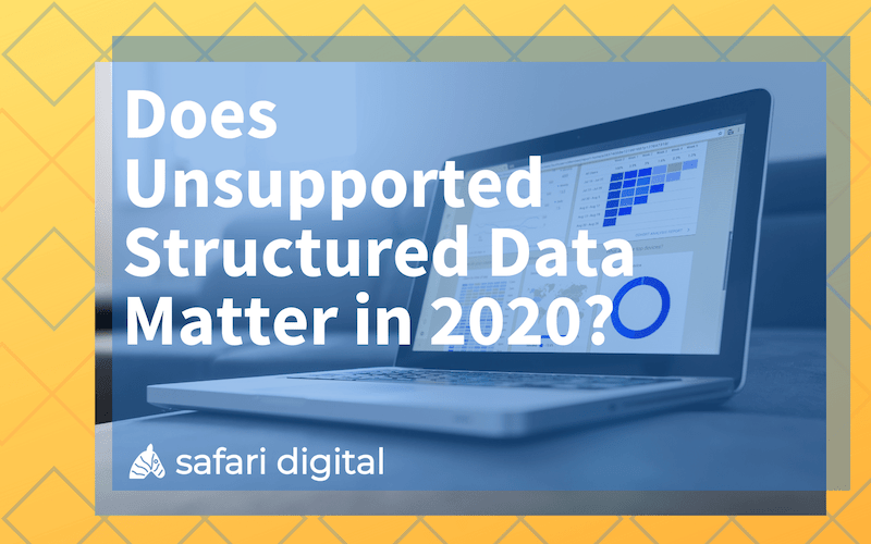 does unsupported structured data matter? small cover image
