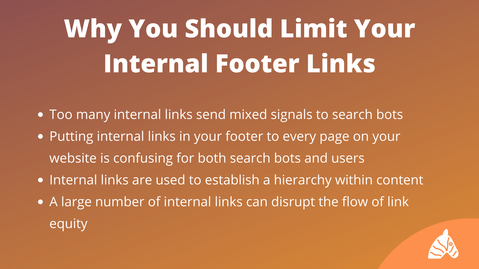 limiting footer links for SEO infographic