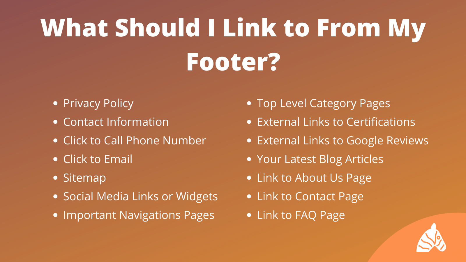 when should i use internal footer links infographic