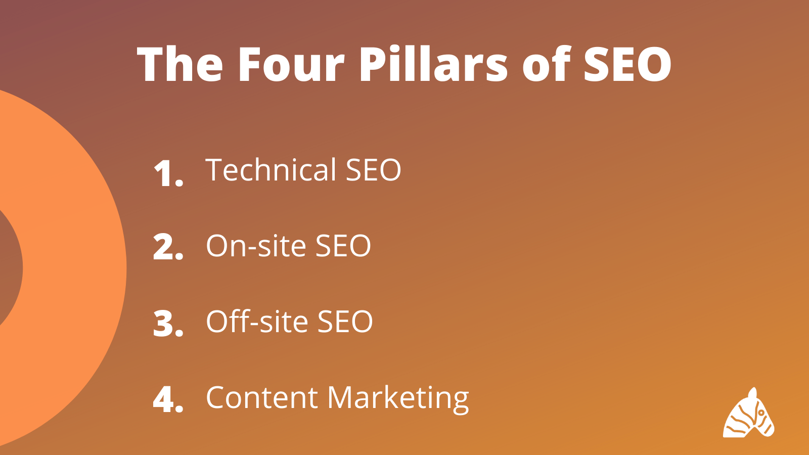 the four pillars of seo infographic