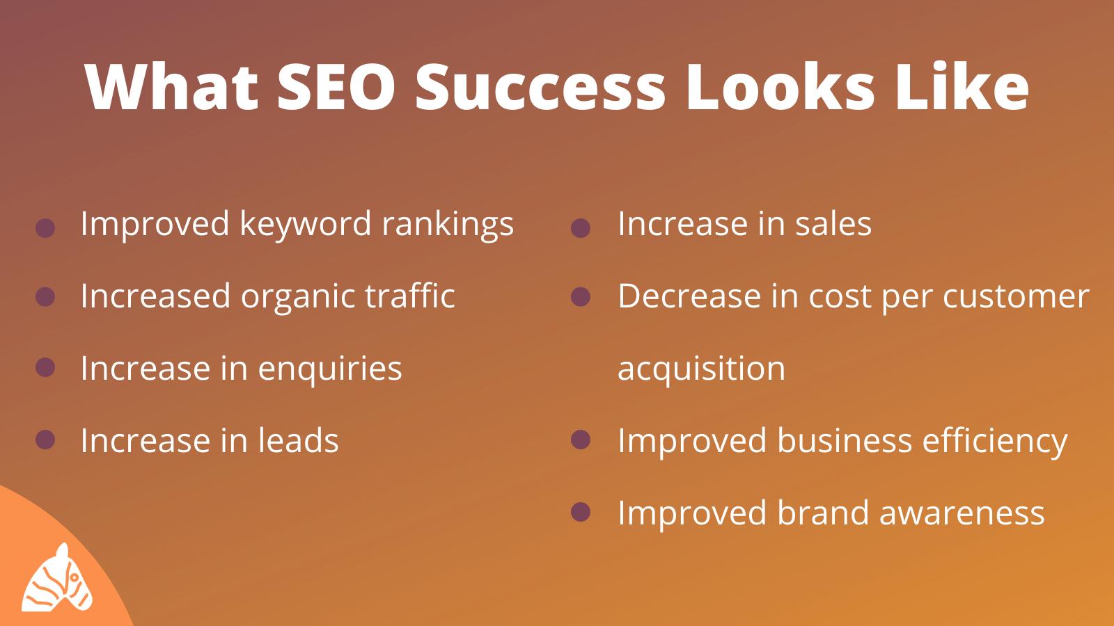 SEO success infographic