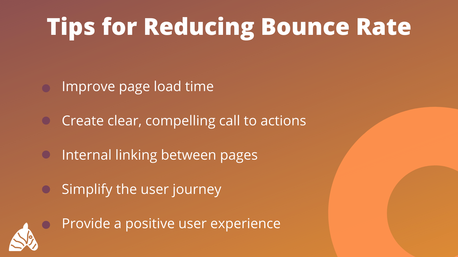 Tips for Bounce Rate Infographic