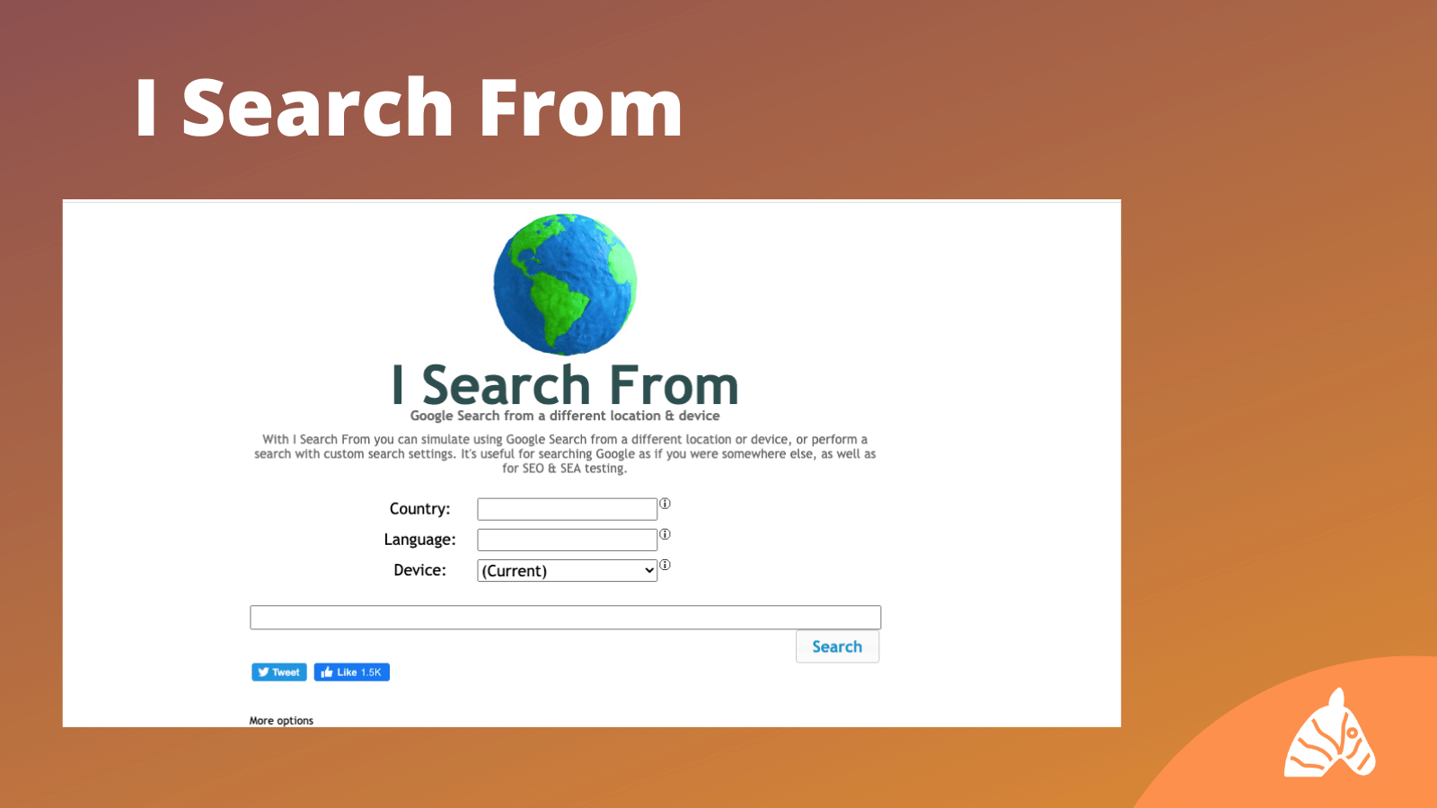 I search from ranking tool infographic