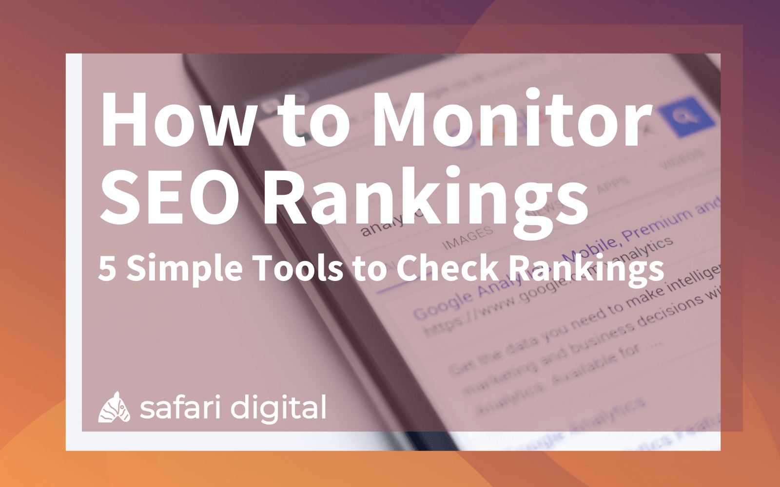 how to monitor sEO rankings cover image