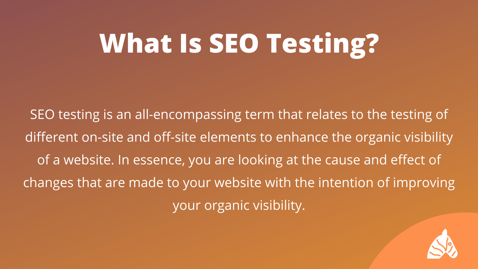 What is SEO testing infographic