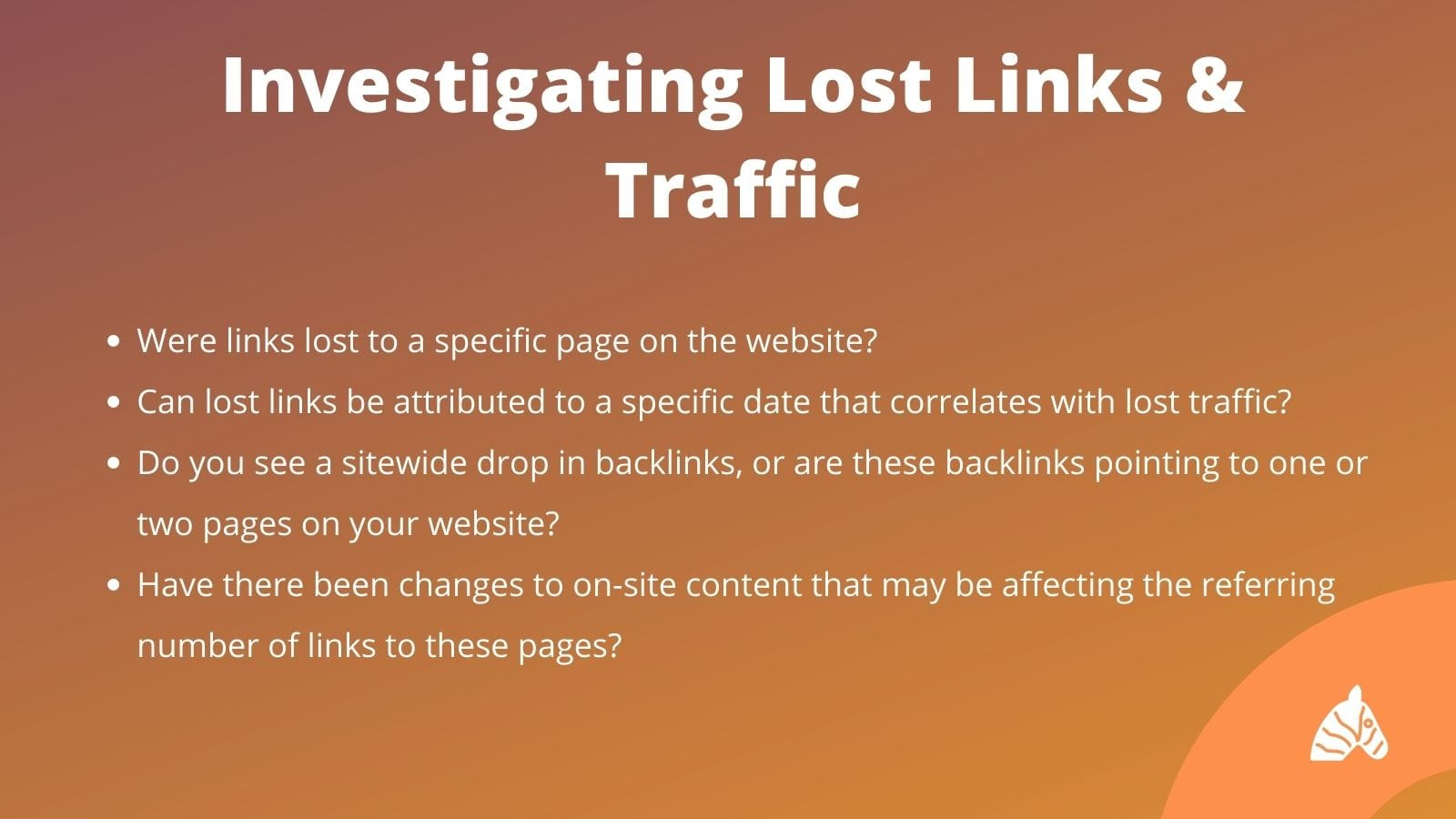 causes of lost traffic in seo