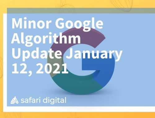 Minor Google Algorithm Update January 12, 2021