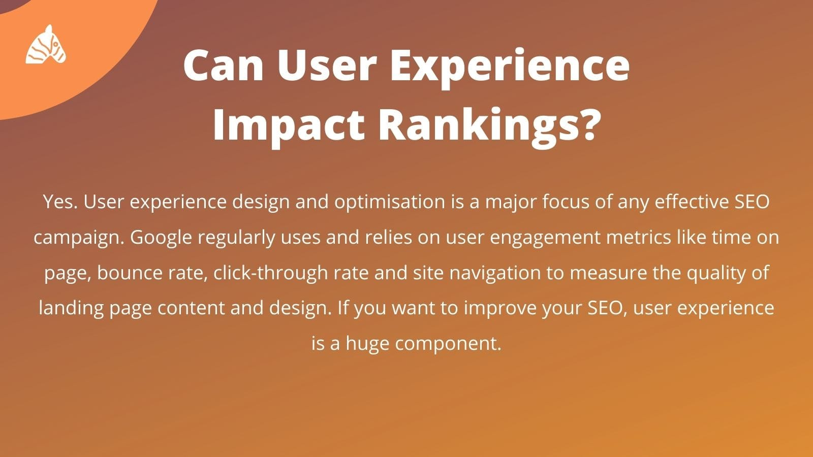 user experience and seo rankings relationship