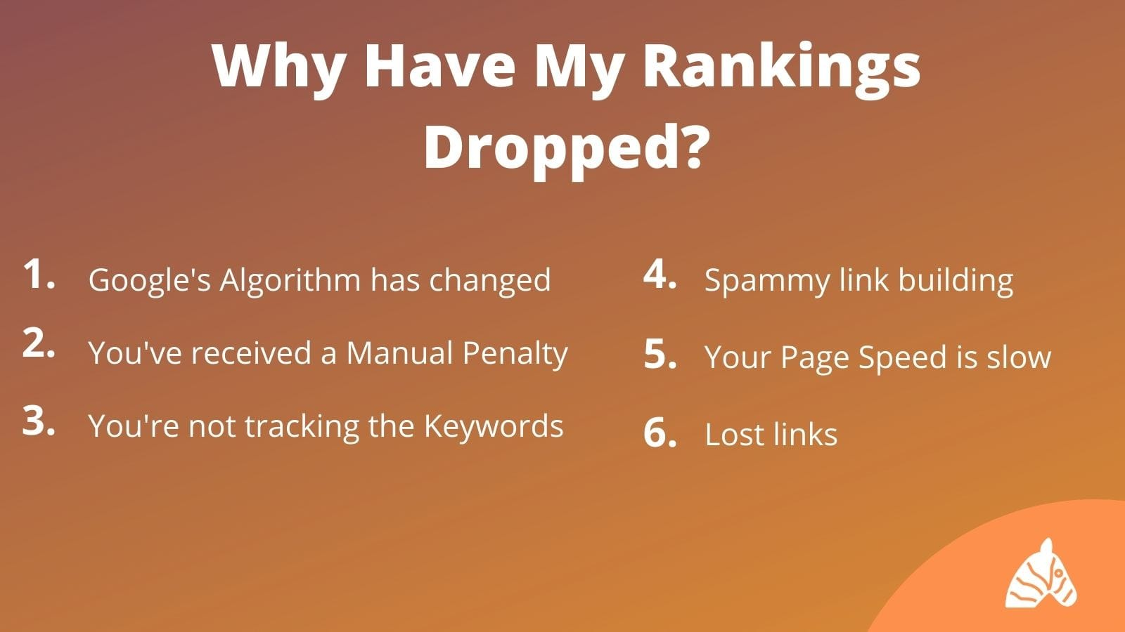 common reasons why seo rankings drop
