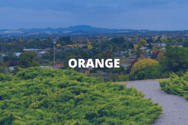 Orange location tile