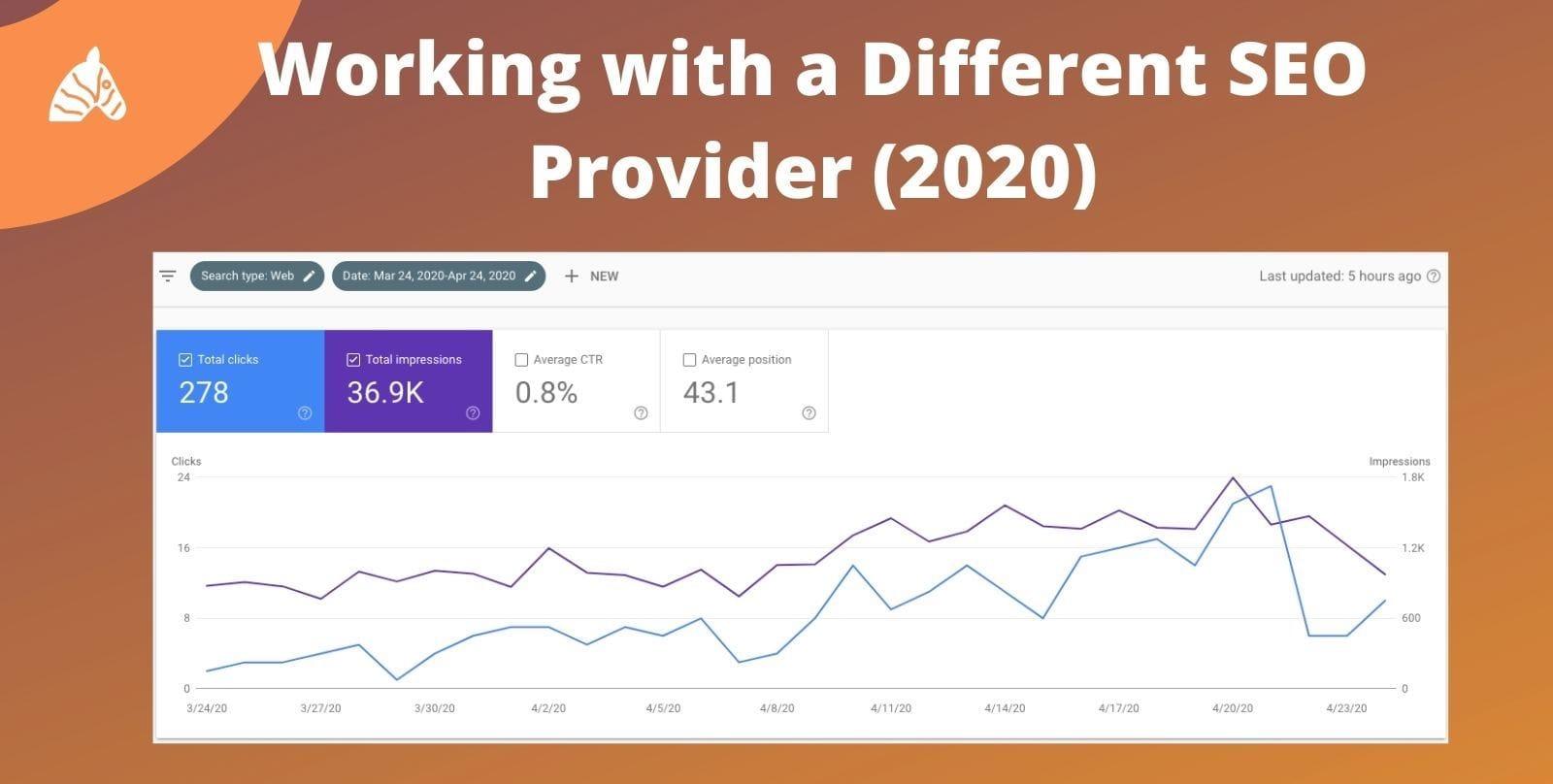 Previous SEO services provider results