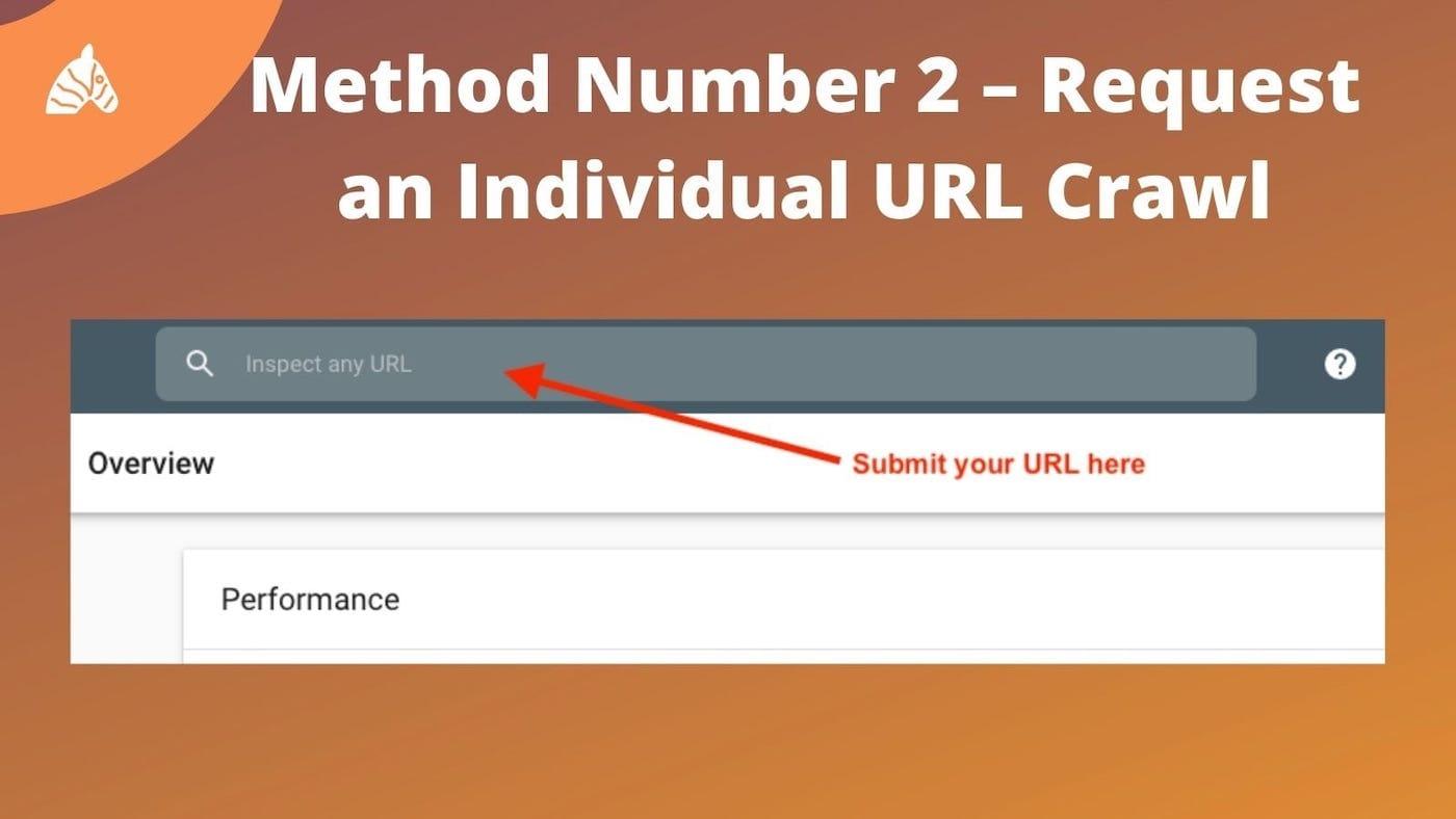 request URL crawl in Google search console