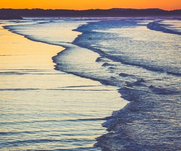 sunshine coast at dusk
