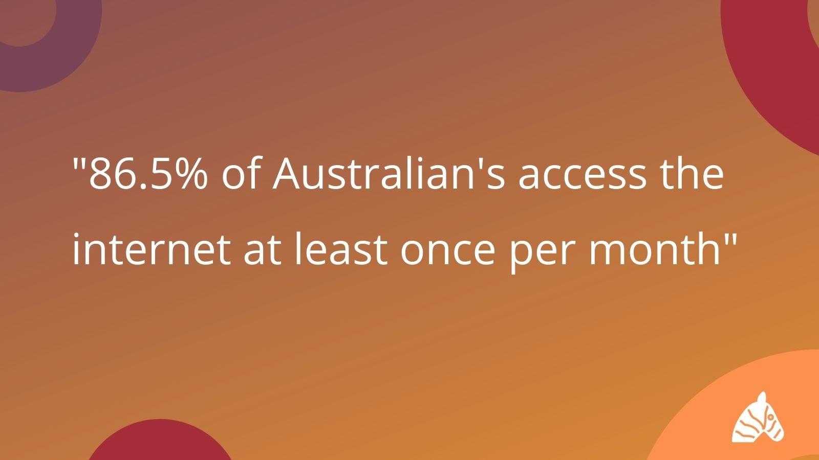 australian internet access statistics
