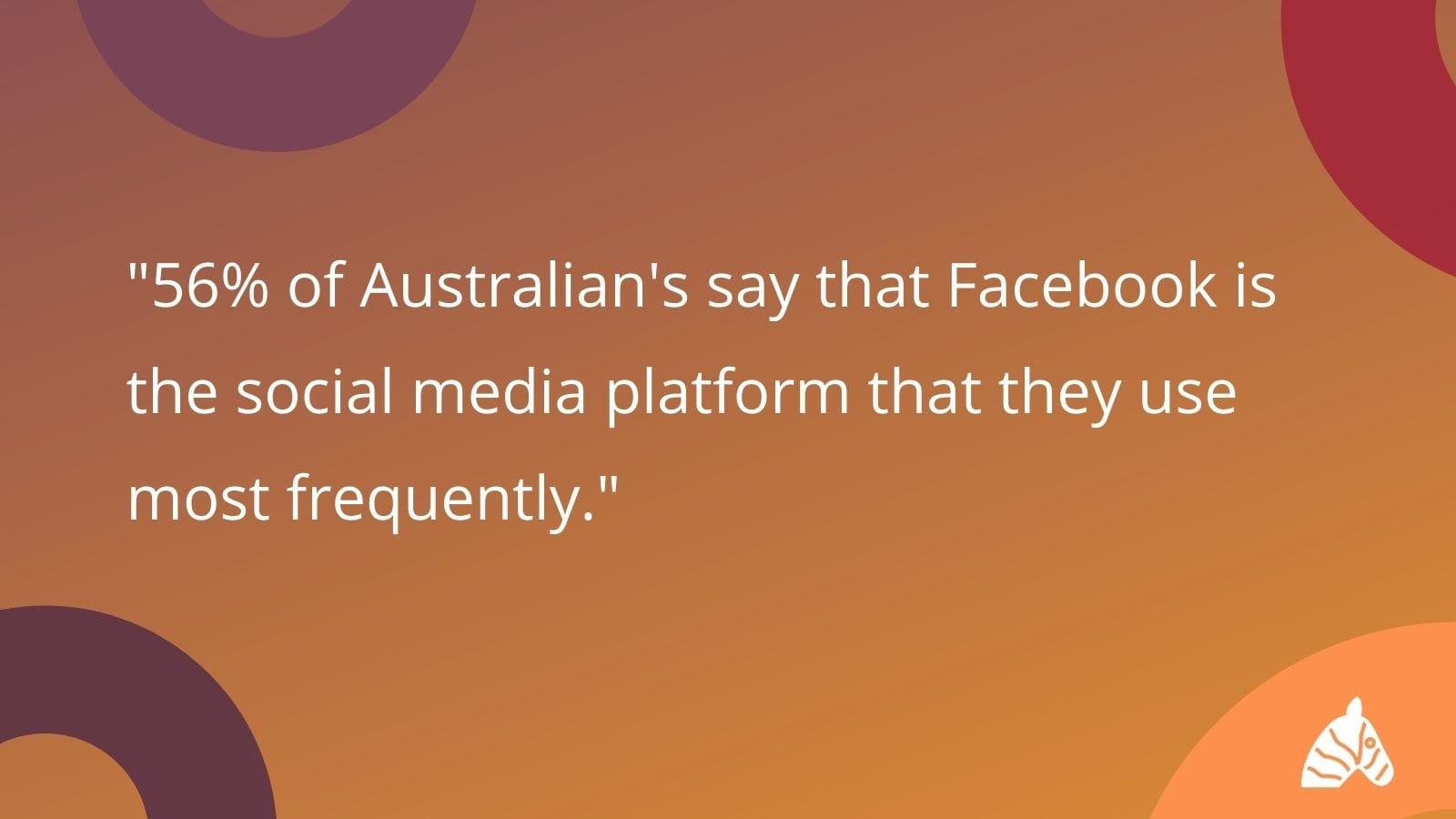 facebook is the most popular social media platform in australia