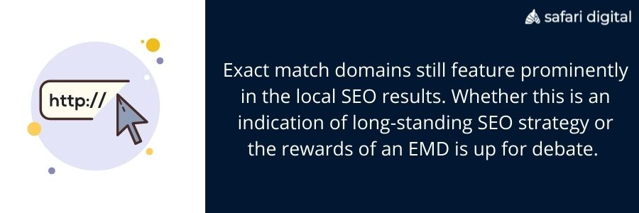 exact match domains and local seo