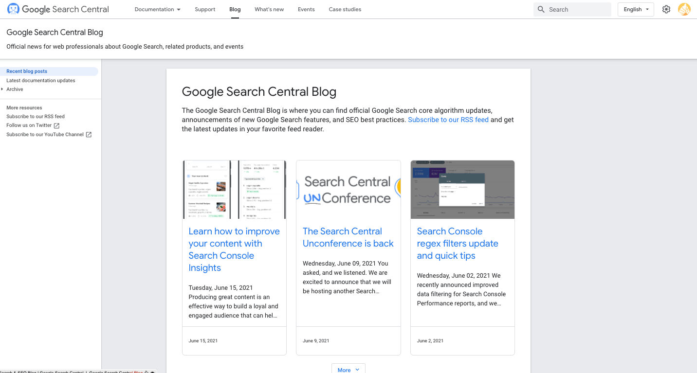 google search central blog image