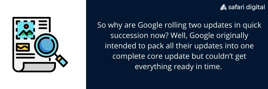 Google rolling out two updates in quick succession