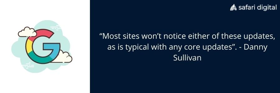 Danny Sullivan on Google Update