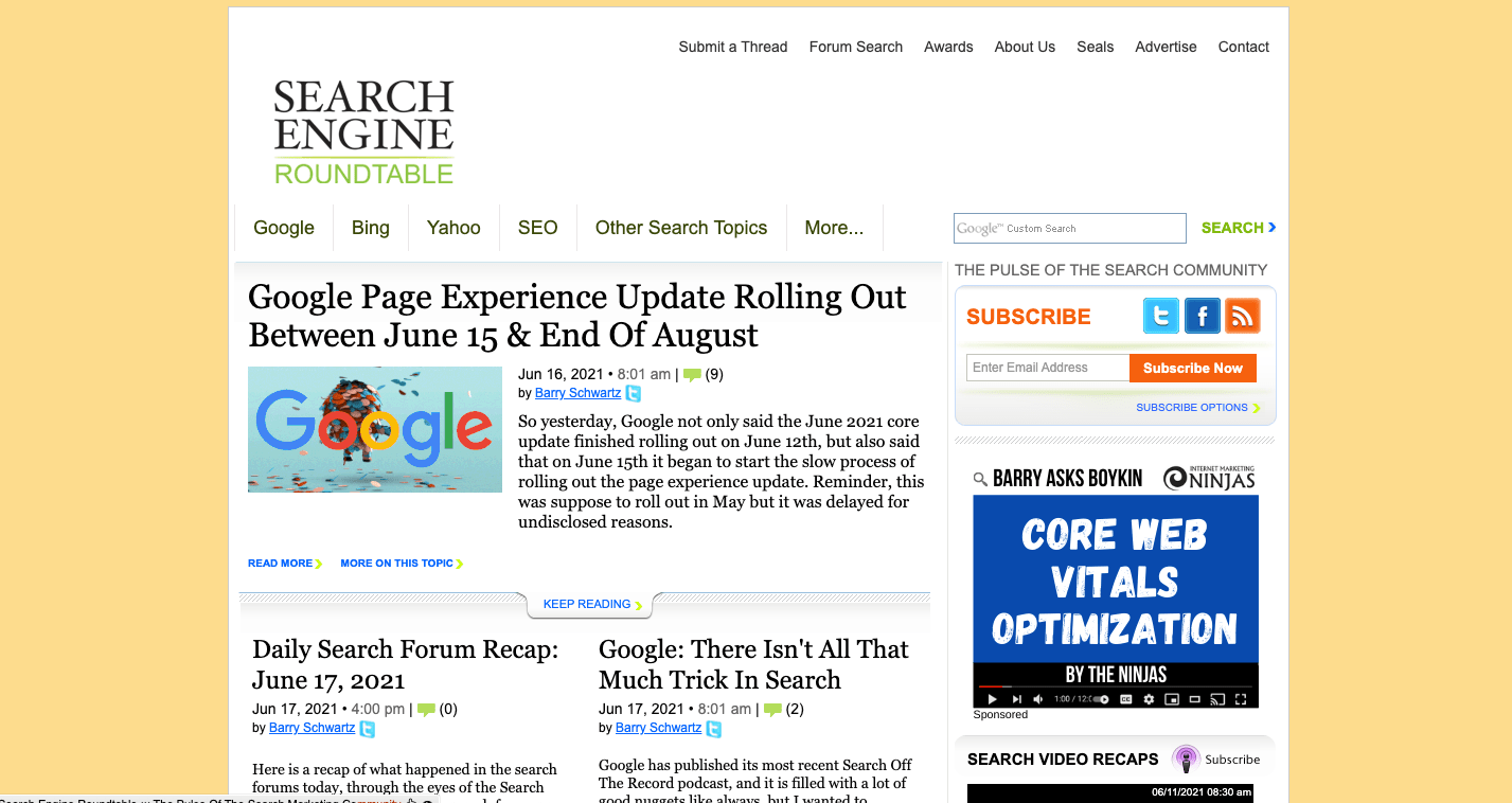 search engine roundtable website image