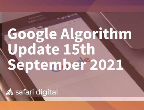 Google Algorithm Update September 15th 2021